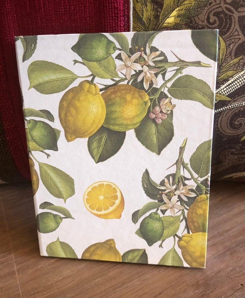 Image of Handmade Notepad - Lemons