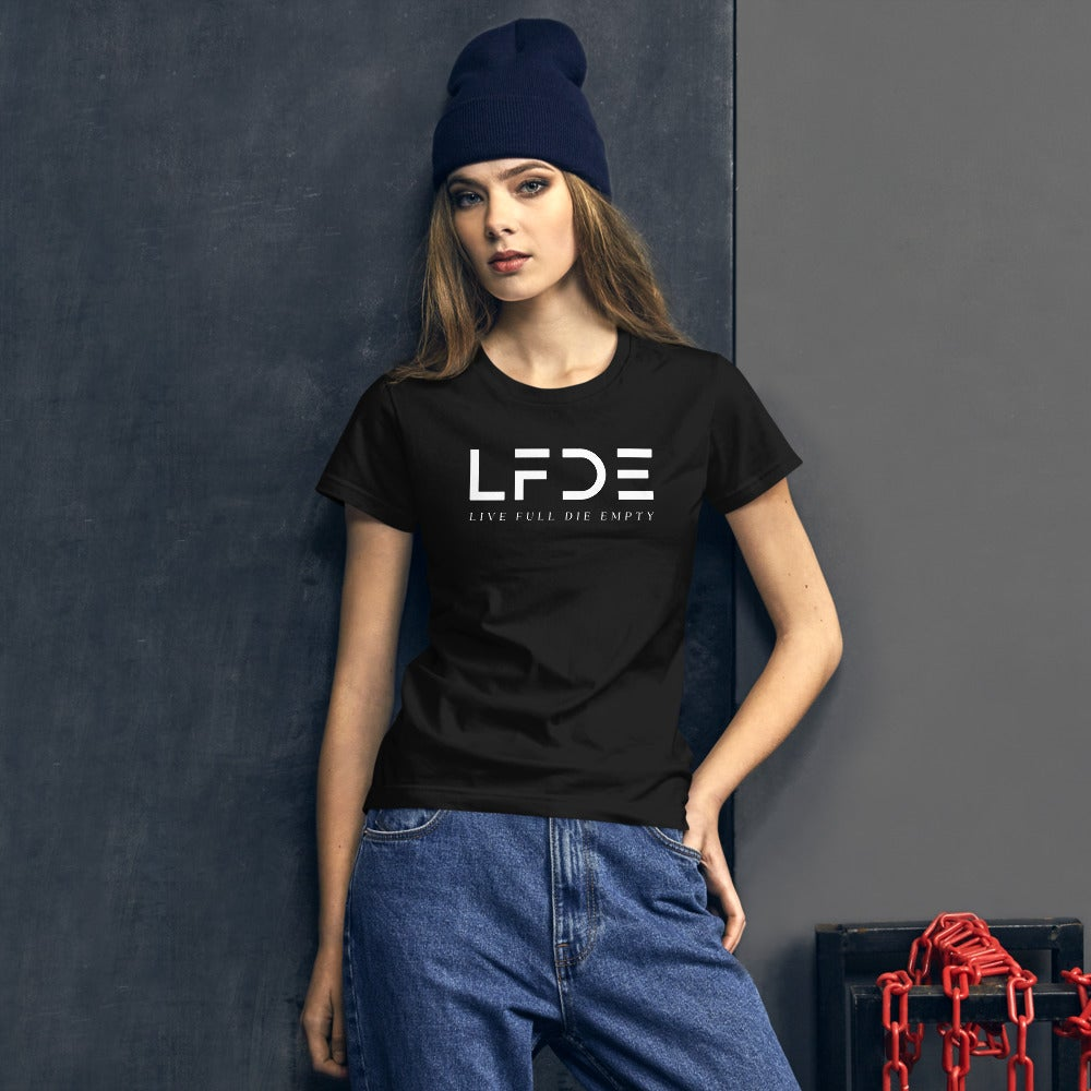 Image of White Logo Women's Fitted  t-shirt