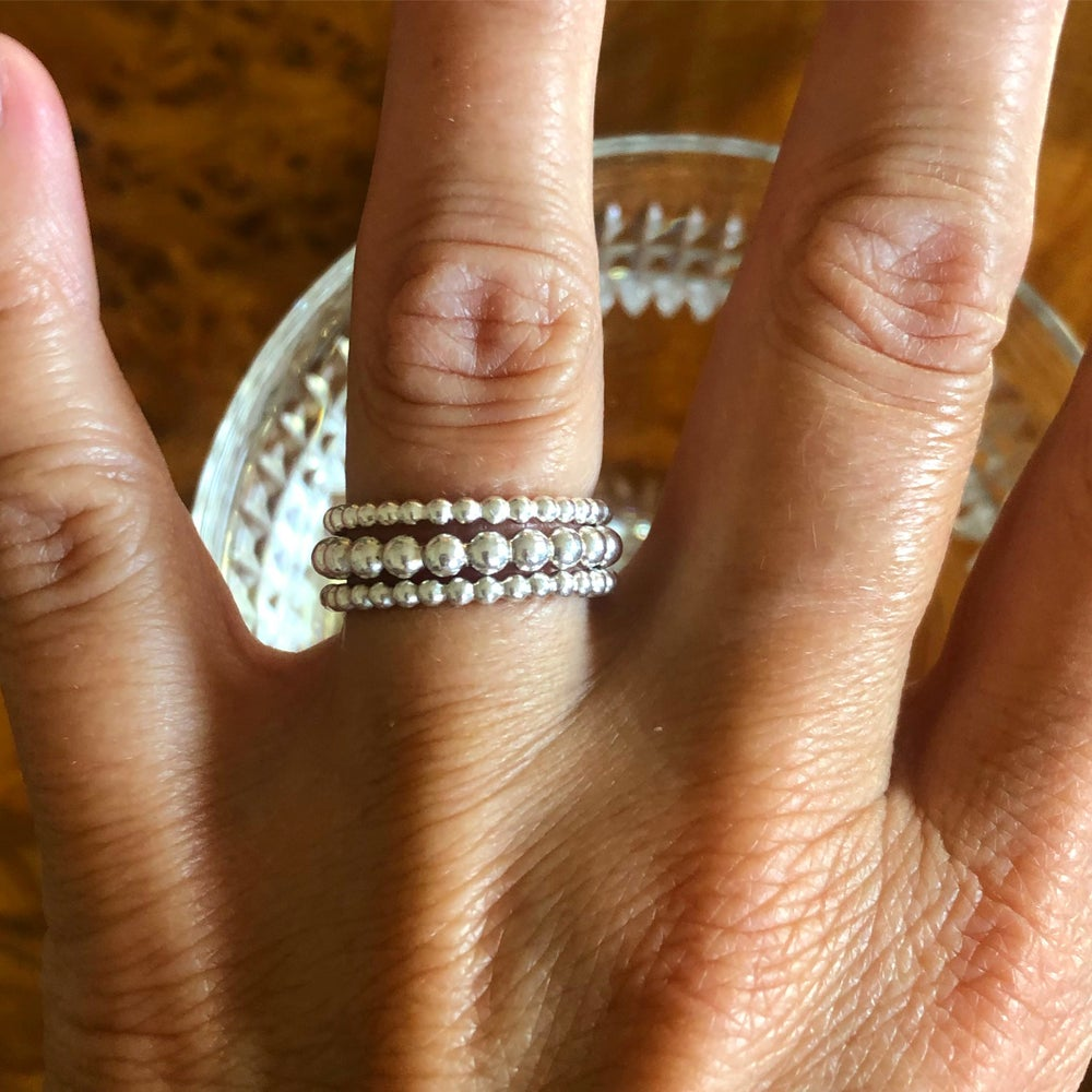 Image of Bubbly silver ring 3 mm