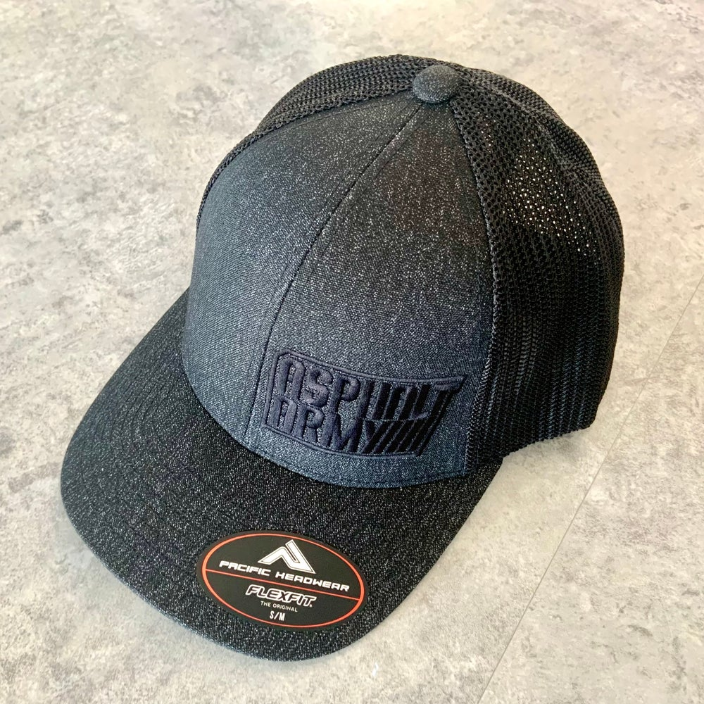 Image of Pacific Headwear 405 Charcoal Heather with Black Mesh