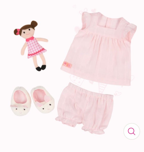 Image of Our Generatin - Pyjama Outfit and Doll For 46cm Dolls