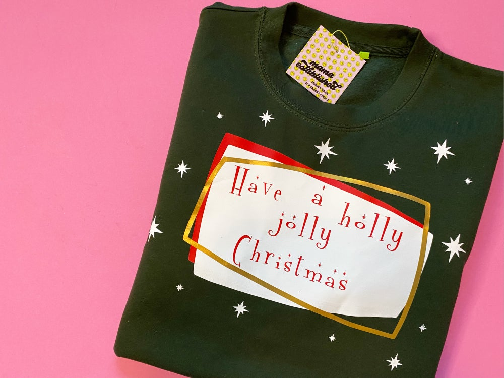 Image of holly Jolly Christmas Jumper
