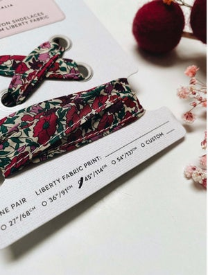 Image of Liberty Print Shoelaces in Petal and Bud