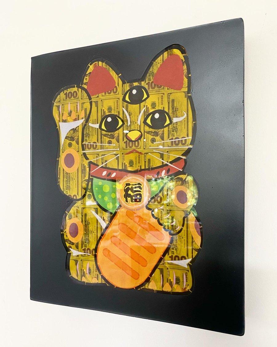 "Image of Maneki Neko 12""x14.5"" Print"