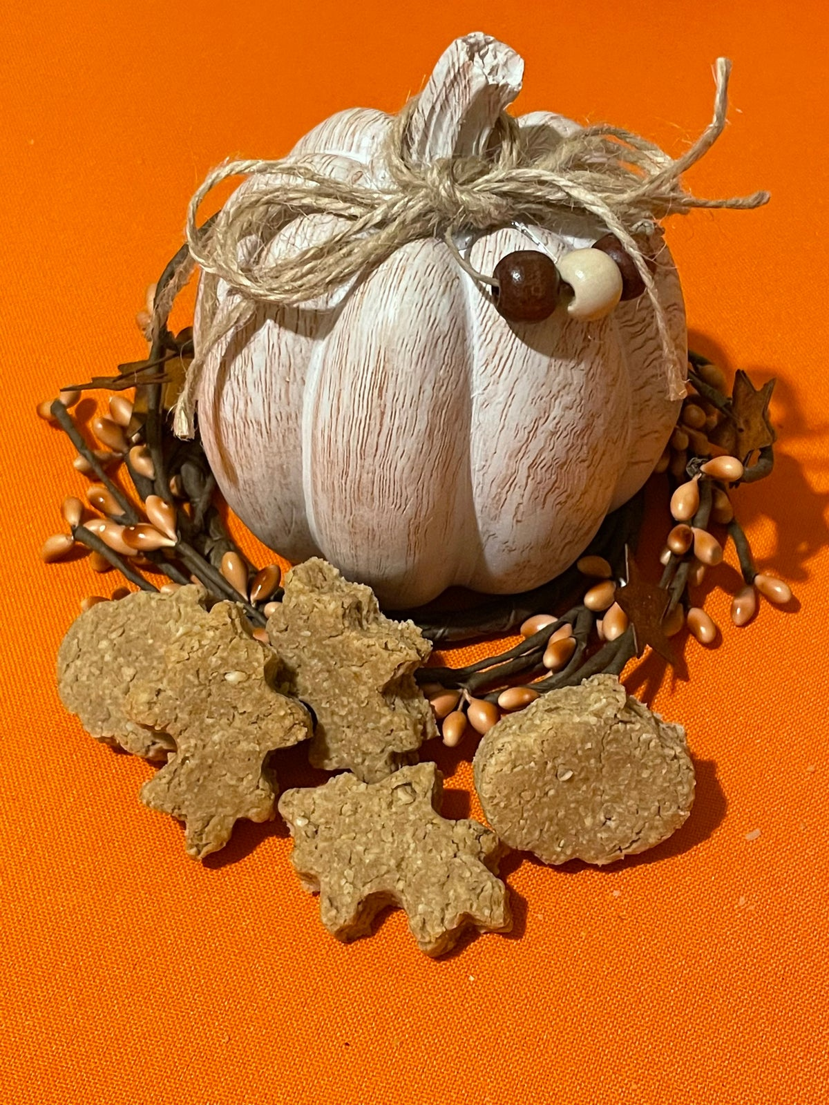 Image of Fall leaves and pumpkins