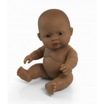 Image of Miniland Doll - Baby Latin American Girl, 21cm (undressed)