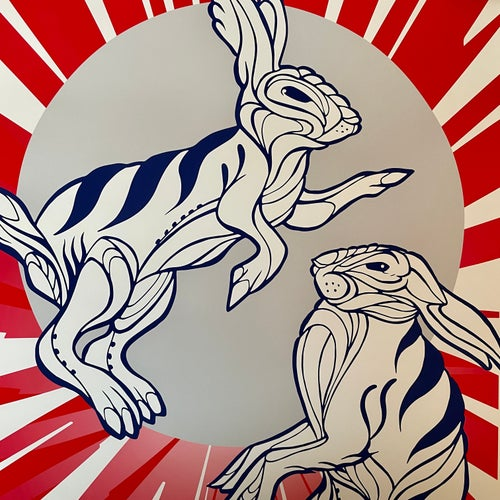 Image of Rabbit Fighter Poster