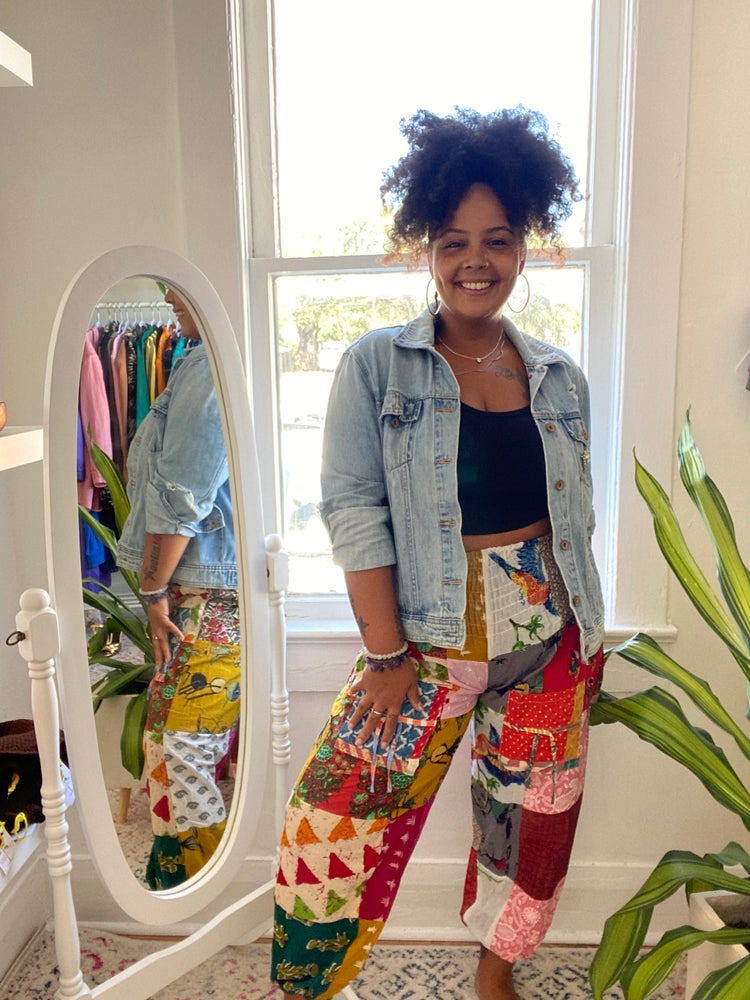 Image of Zoe Patchwork Pants (OS)