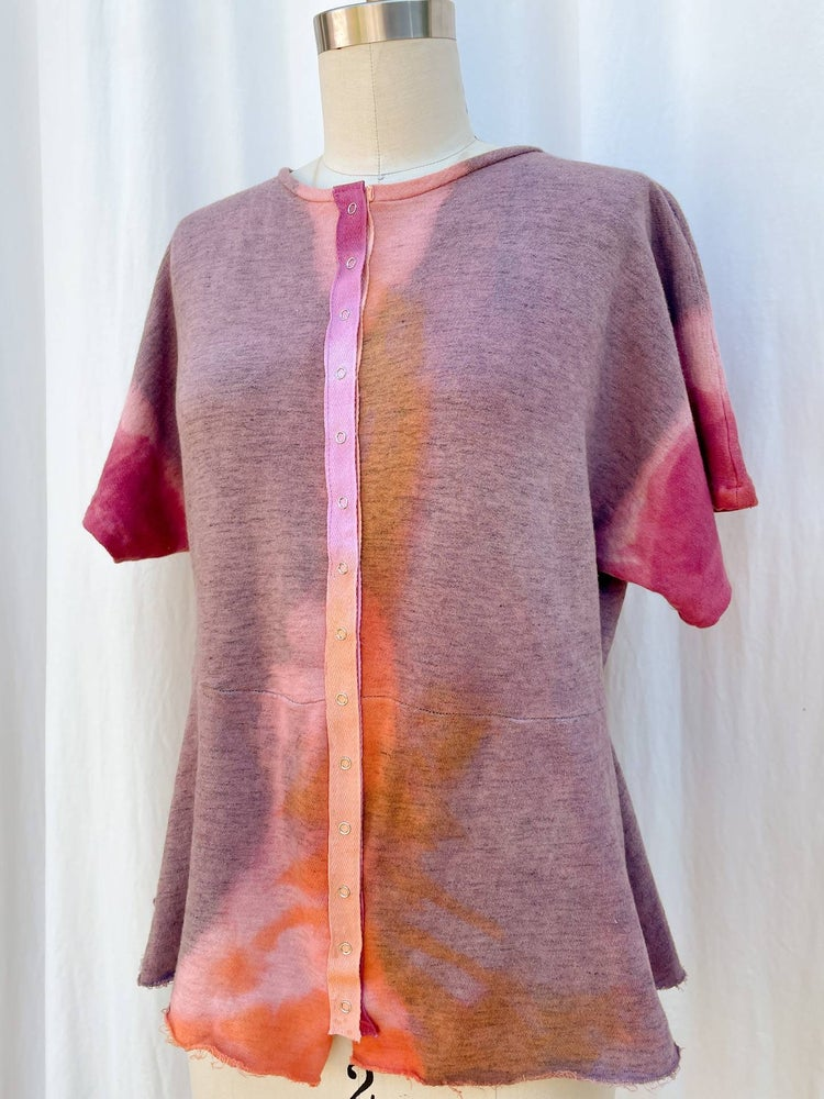 Image of Hand Dyed Snap Front Sweatshirt