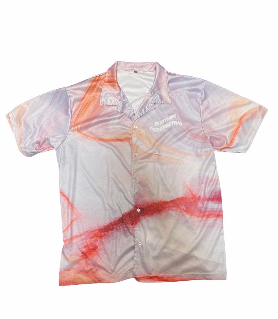 Image of Red Marble Button-Up Shirt