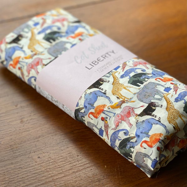 Image of Liberty Fitted Cot Sheet - Queue for the Zoo