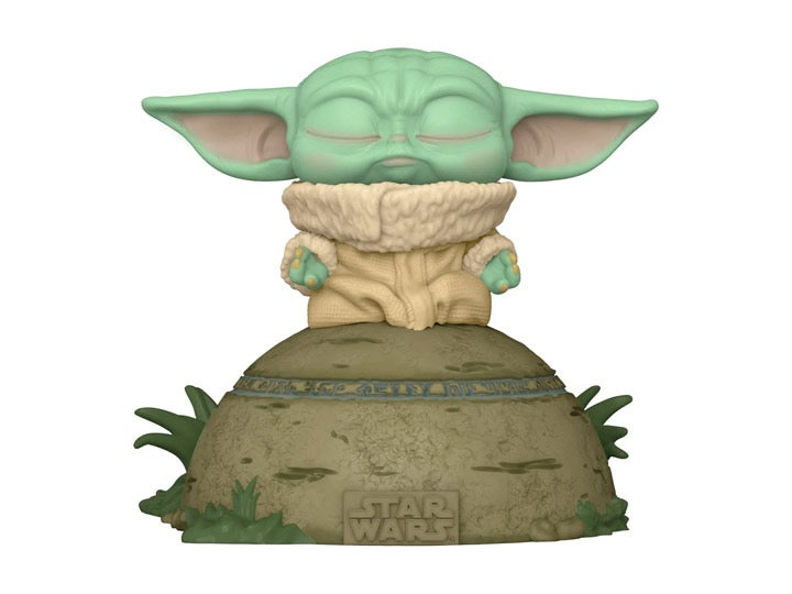Image of Pop! Deluxe Star Wars: The Mandalorian - Grogu Using the Force lights and sounds!