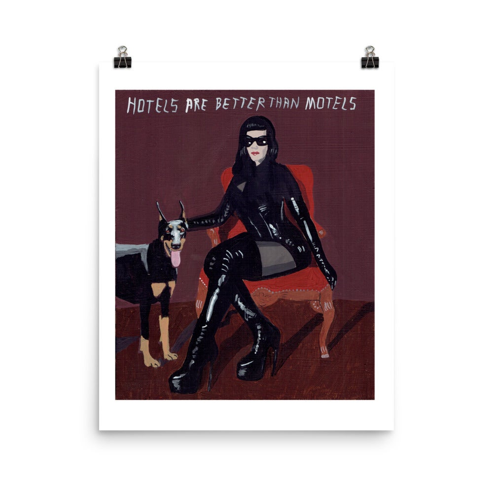 Image of HOTELS ARE BETTER THAN MOTELS POSTER