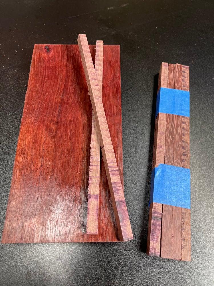 Image of Purple Heart Chopstick Blanks - Sets Of 8