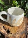 White Leaf Relief Mug