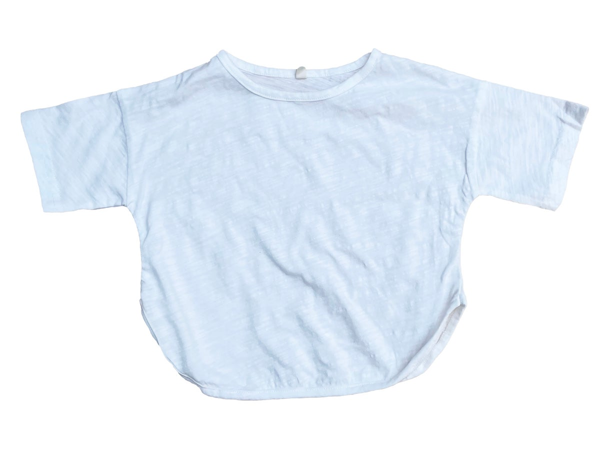 Image of Bamboo Cotton Short Sleeve T-shirt. White (was £14)
