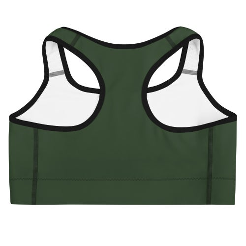 Image of Tribe Sports Bra Forest Green