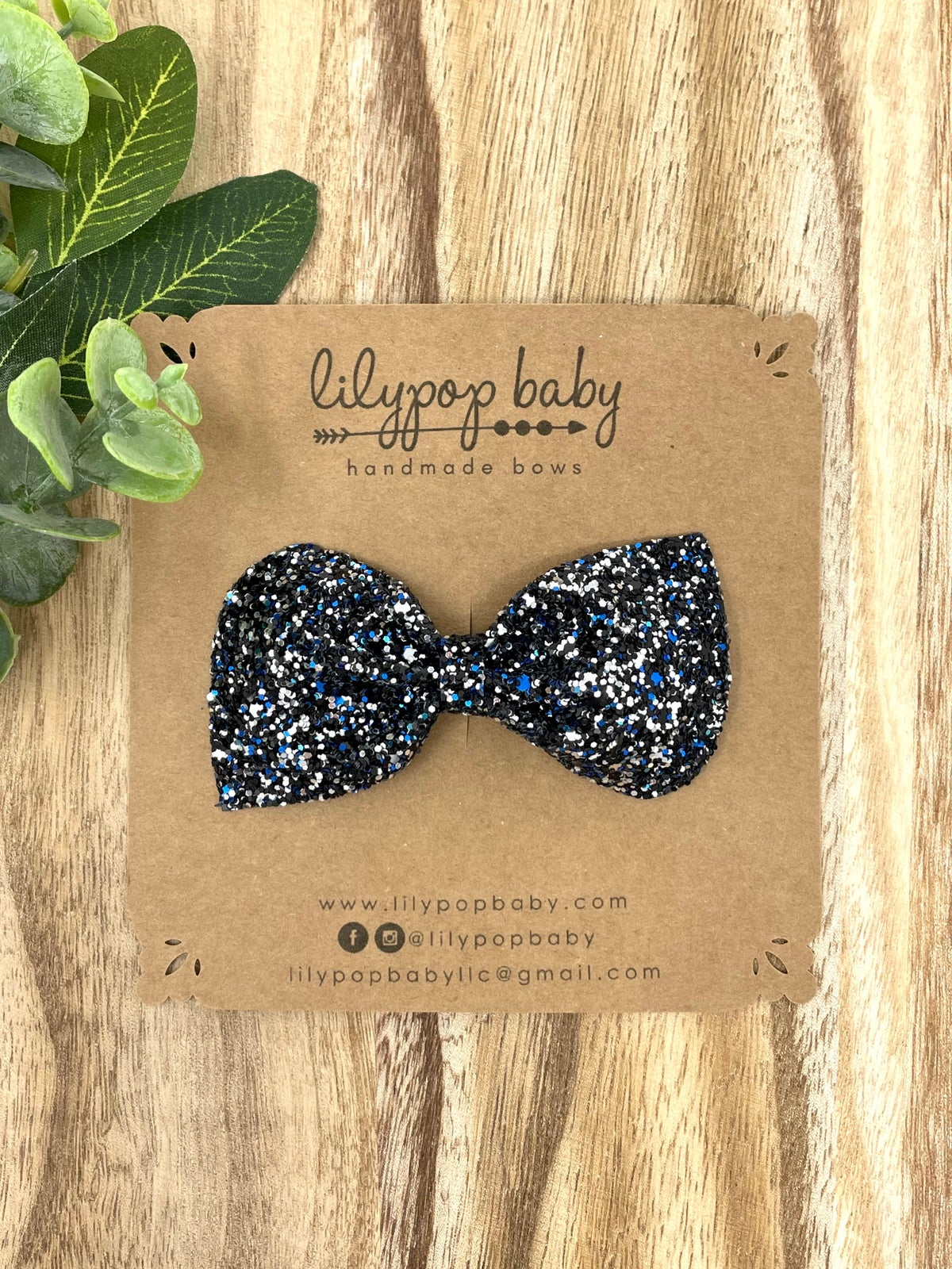 Image of Back the Blue Chunky Glitter Bow (sold separately)