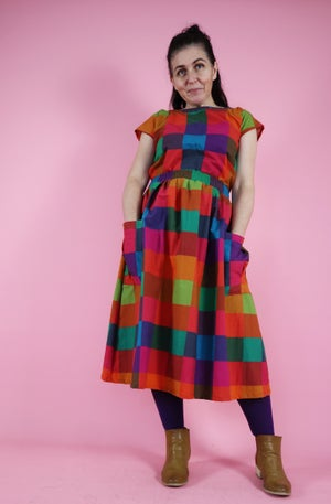Ready Made Dark Picnic Gingham T Top/Rachael Skirt Set with free postage
