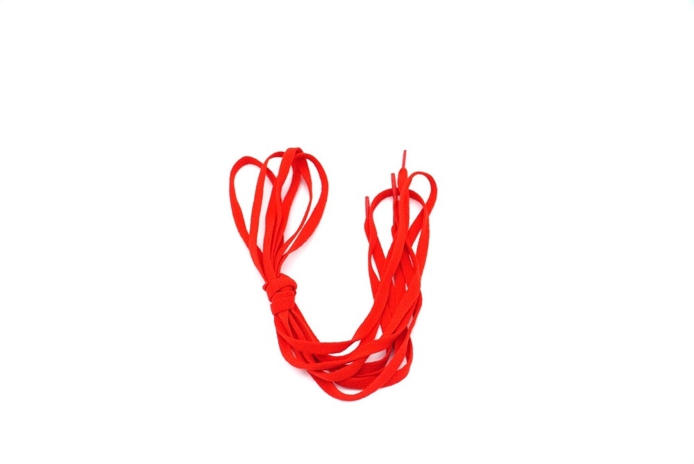 Image of Red Flat Laces