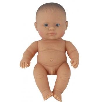 Image of Miniland Doll - Baby Caucasian Boy, 21cm (undressed)