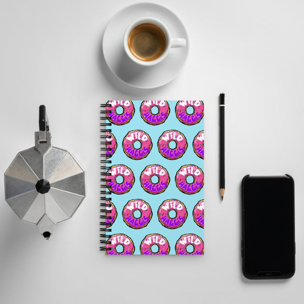 """""""All The Donuts in The World"""" Spiral notebook"""