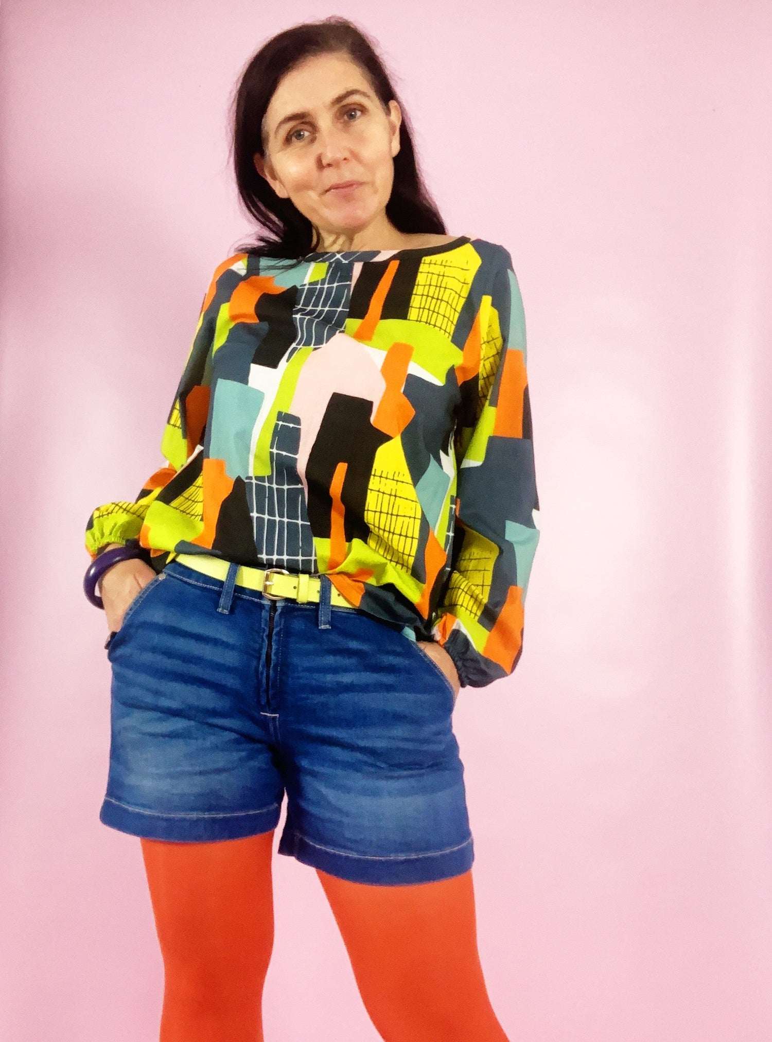 Ready Made Concrete Jungle Smock Top with free postage