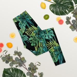 Image of Nika's Green Flower Leggings
