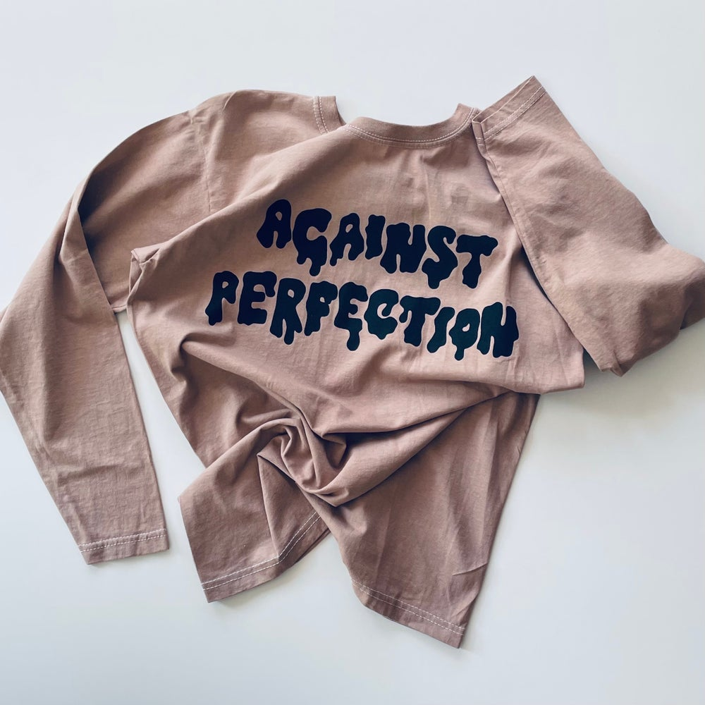 Reworked Against Perfection Long Sleeve T-shirt Clay