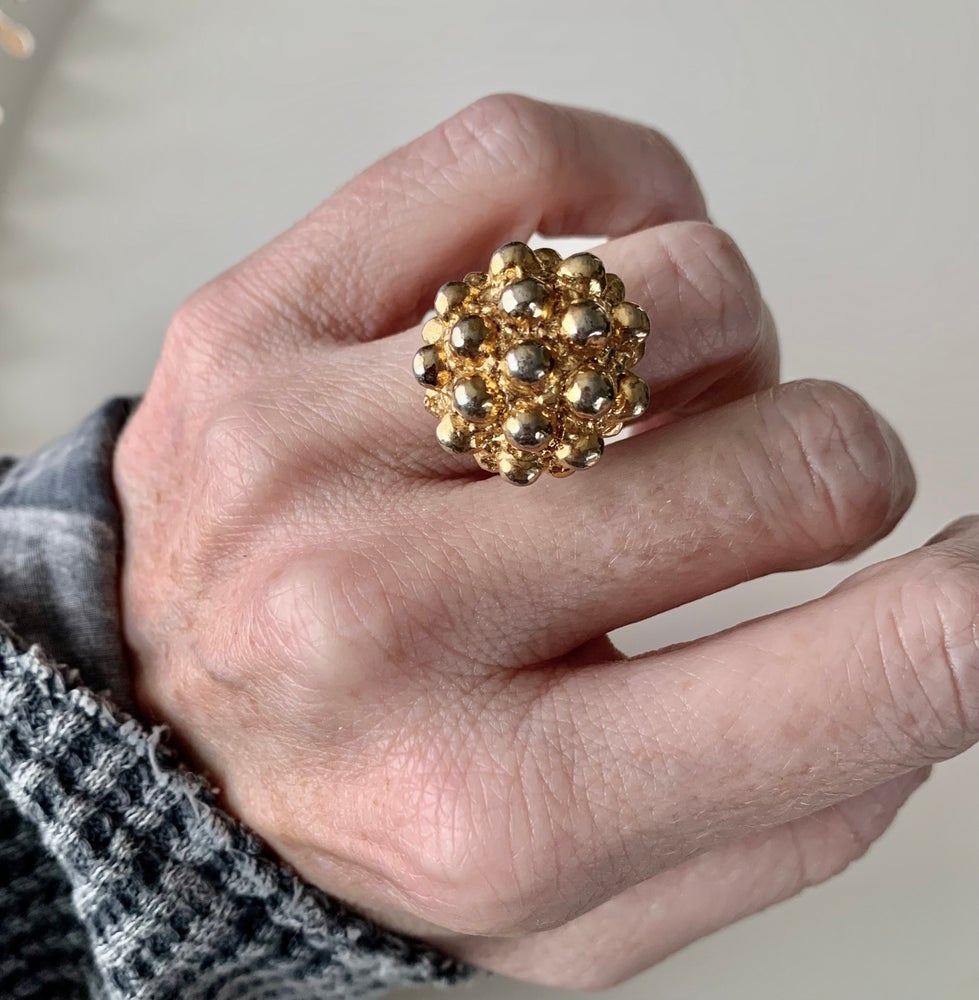 """Image of """"The Life of the Party"""" Statement Button Ring"""
