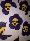 Goth Flower Print