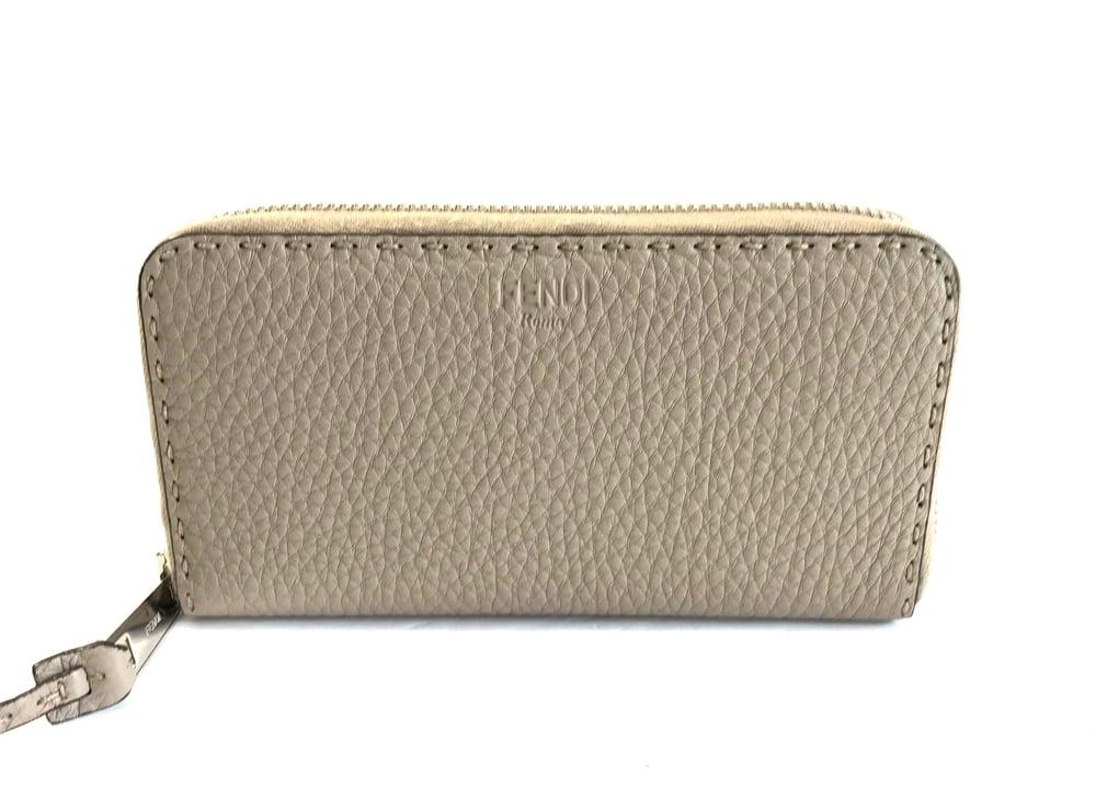 Image of Fendi Selleria Zip Around Wallet 535-268