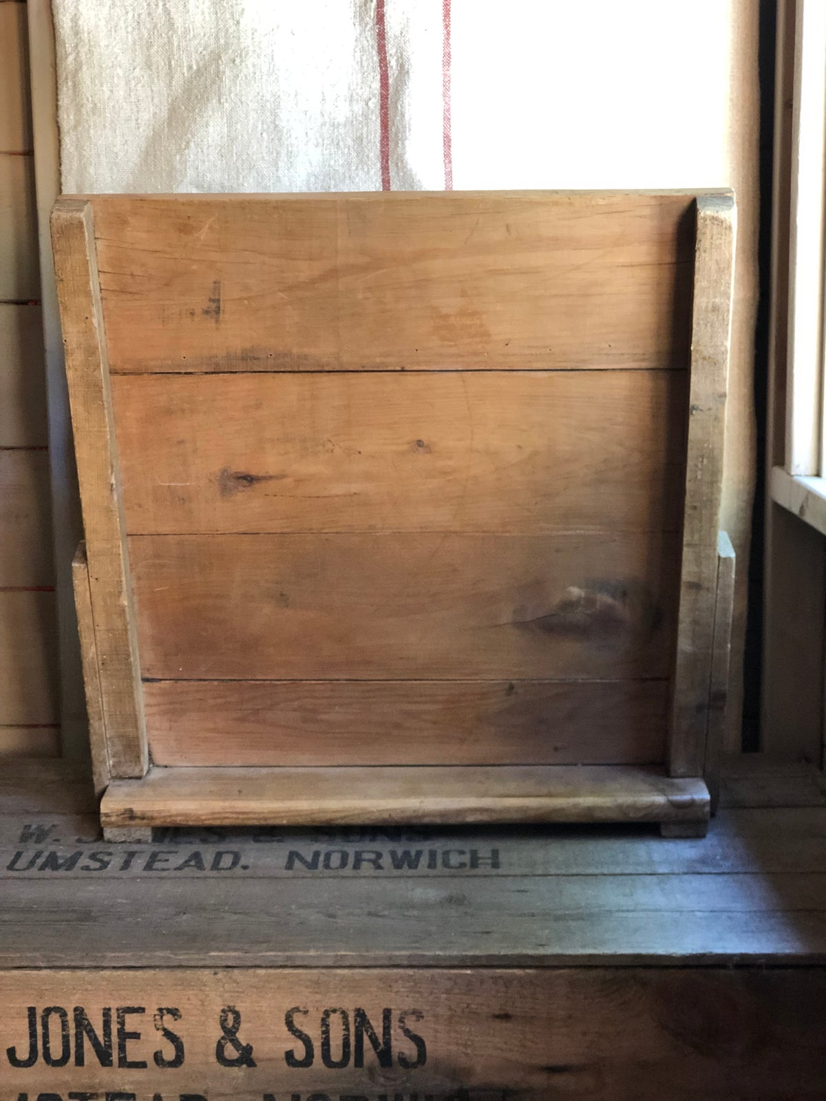 Image of Heavy wooden washboard