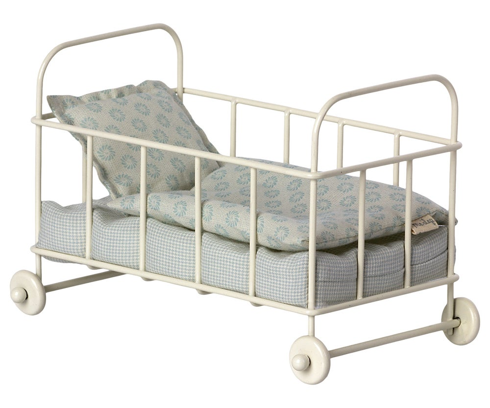 Image of Maileg - Cot Bed Micro Blue (Pre-order)