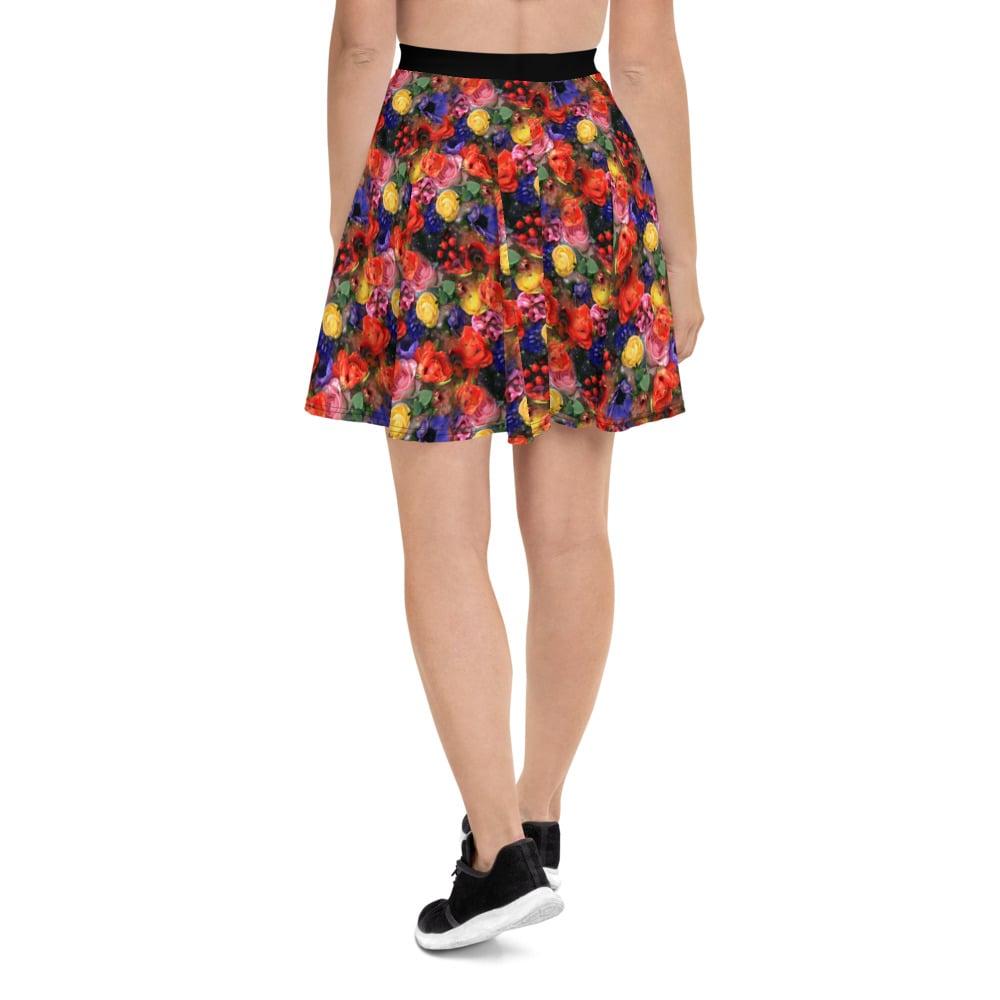 Image of Cosmic Bloom Skater Skirt