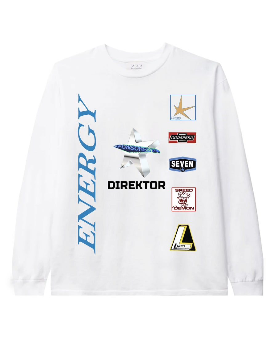Image of SPONSORED BY LONG-SLEEVE (WHITE)