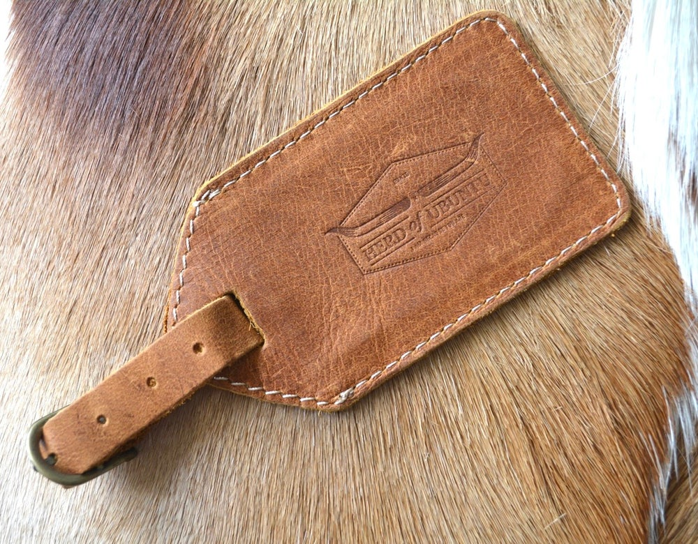 Image of 'OR Tambo' Leather Luggage Tag