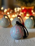 Marbled Ornaments - Snow