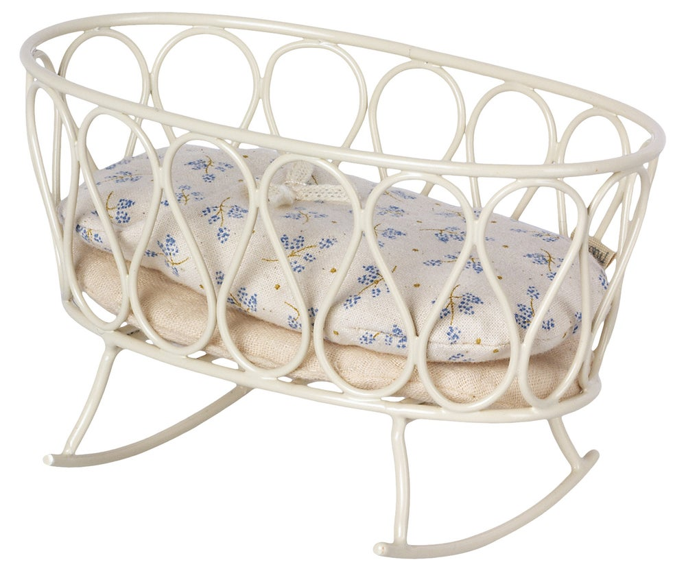 Image of Maileg - Cradle With Sleeping Bag MY Blue (Pre-order)