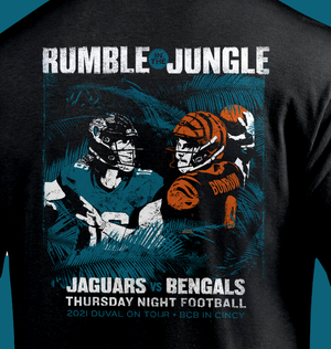 Image of Rumble in the Jungle - trip shirt
