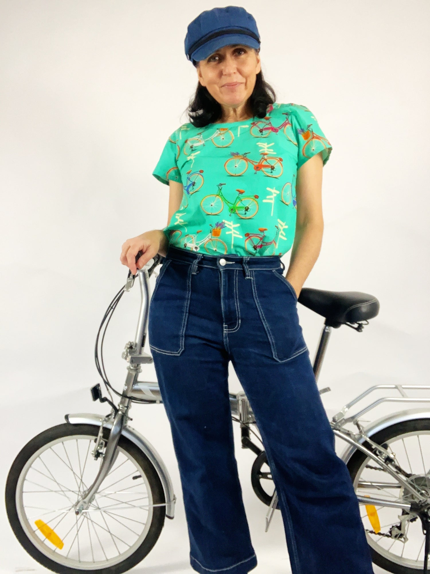 Ready Made On Your Bike Peggy Top with free postage