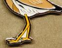 White-tailed Plover - October 2021 - UK Birding - Enamel Pin Badge