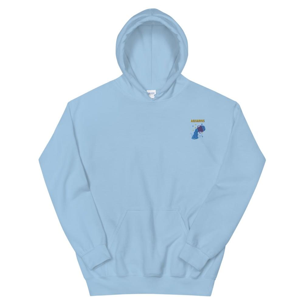Aquarius Embroidered Unisex Hoodie