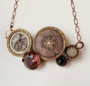 """Image of """"Antoinette"""" Statement Button Necklace"""