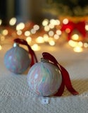 Marbled Ornaments - Gingerbread