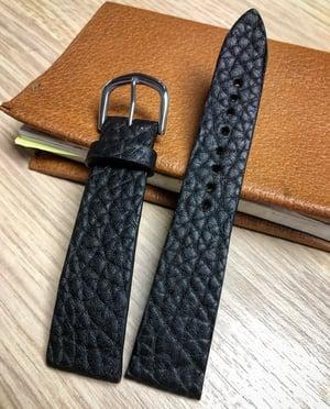 Image of Shrunken Black Bison - Hourglass Cut - Watch Strap