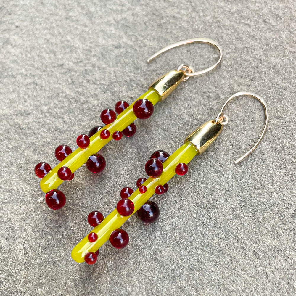 Image of Blobbed Chartreuse Dangles