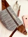 B&W stripes hip bag