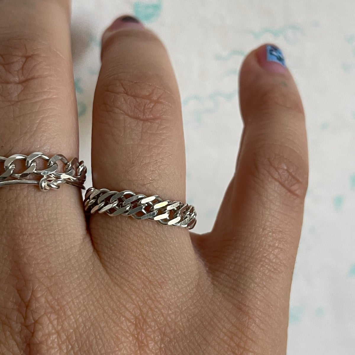 Image of double cuban chain ring
