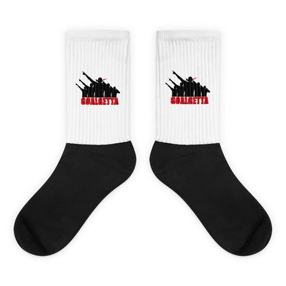 Image of GOALGETTA Black Foot Sublimated Socks